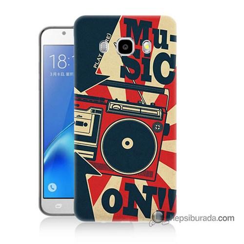Teknomeg Samsung J7 2016 Kapak Kılıf Müzik Baskılı Silikon