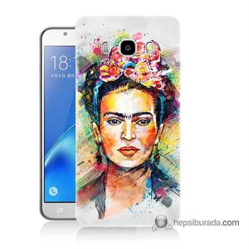 Teknomeg Samsung J7 2016 Kapak Kılıf Frida Baskılı Silikon