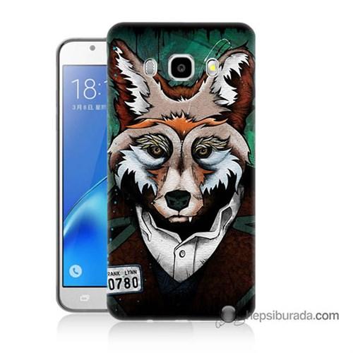 Teknomeg Samsung J7 2016 Kılıf Kapak Bad Wolf Baskılı Silikon
