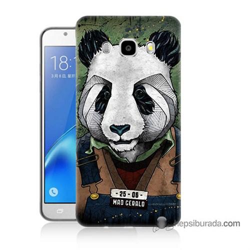 Teknomeg Samsung J7 2016 Kapak Kılıf İşçi Panda Baskılı Silikon