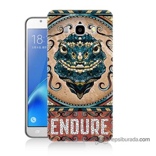 Teknomeg Samsung J7 2016 Kılıf Kapak Endure Baskılı Silikon
