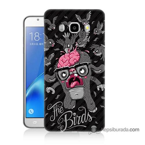 Teknomeg Samsung J7 2016 Kılıf Kapak The Birds Baskılı Silikon