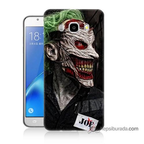 Teknomeg Samsung J7 2016 Kapak Kılıf Joker Joe Baskılı Silikon