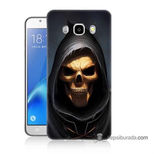 Teknomeg Samsung J7 2016 Kılıf Kapak Ölüm Meleği Baskılı Silikon