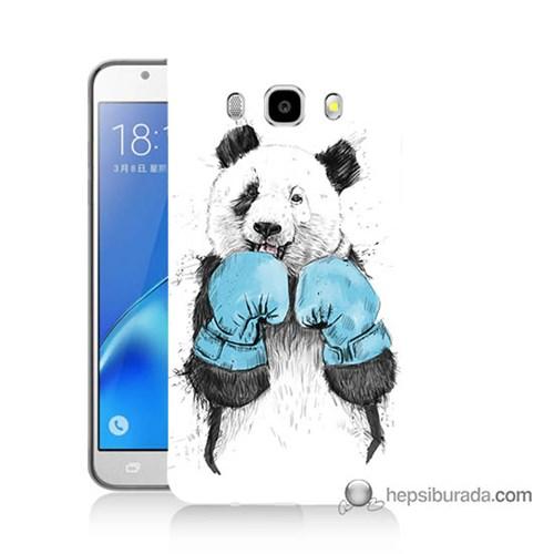 Teknomeg Samsung J7 2016 Kılıf Kapak Boksör Panda Baskılı Silikon