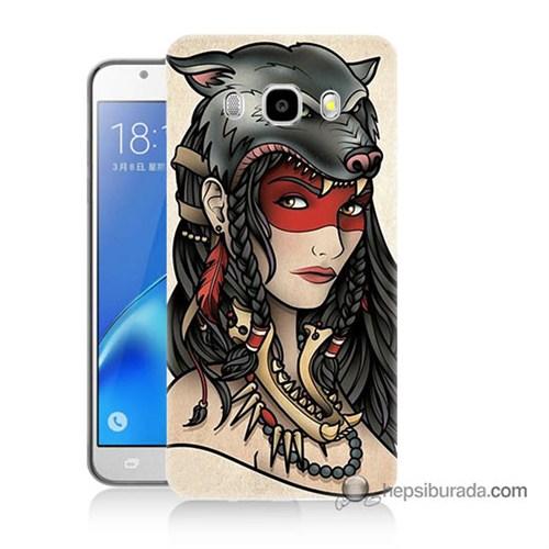 Teknomeg Samsung J7 2016 Kapak Kılıf Pocahontas Baskılı Silikon