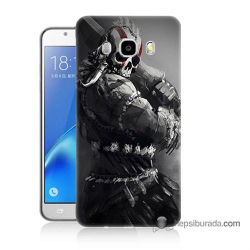 Teknomeg Samsung J7 2016 Kılıf Kapak Tribal Warrior Baskılı Silikon