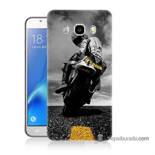 Teknomeg Samsung J7 2016 Kapak Kılıf Motorsiklet Baskılı Silikon