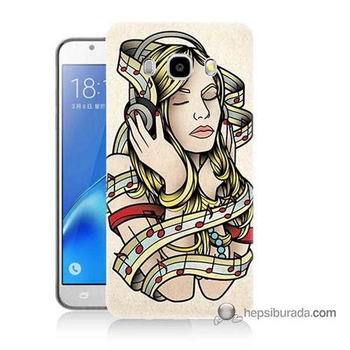 Teknomeg Samsung J7 2016 Kapak Kılıf Müzik Aşkı Baskılı Silikon
