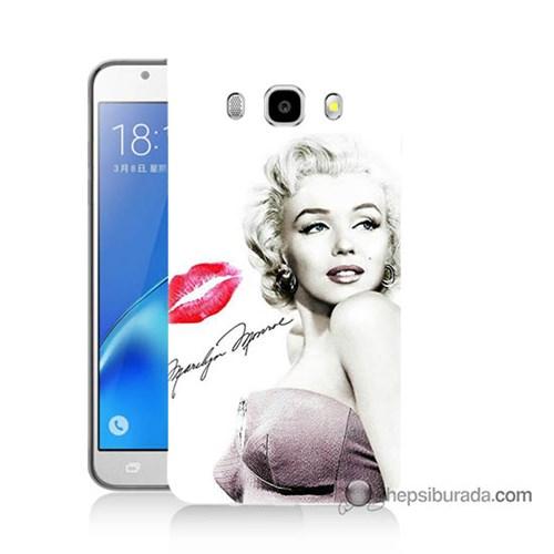 Teknomeg Samsung J7 2016 Kapak Kılıf Marilyn Monroe Baskılı Silikon