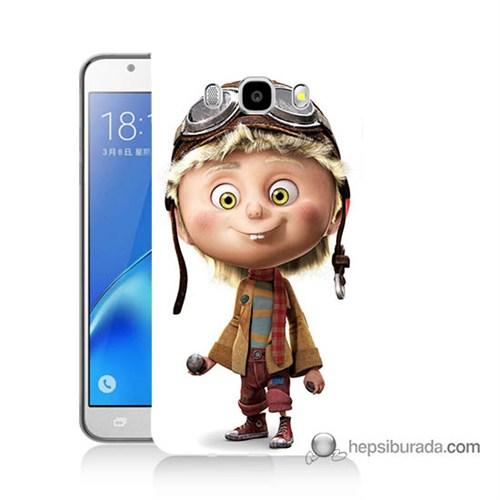 Teknomeg Samsung J7 2016 Kılıf Kapak Çizgi Karakter Baskılı Silikon