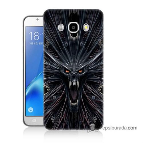 Teknomeg Samsung J7 2016 Kılıf Kapak Korku Canavarı Baskılı Silikon