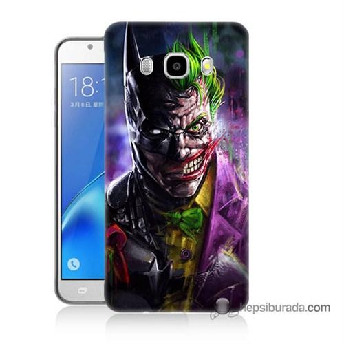 Teknomeg Samsung J7 2016 Kılıf Kapak Batman Vs Joker Baskılı Silikon