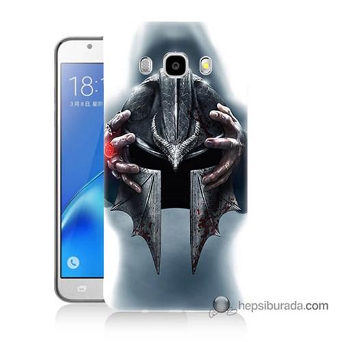 Teknomeg Samsung J7 2016 Kılıf Kapak Assassins Creed Baskılı Silikon