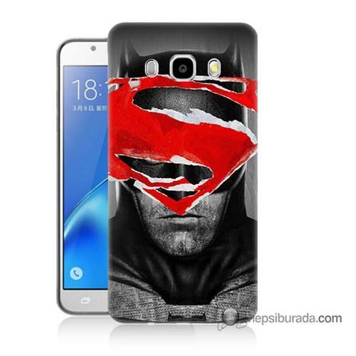 Teknomeg Samsung J7 2016 Kapak Kılıf Batman Vs Superman Baskılı Silikon