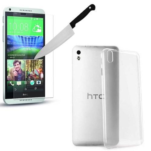 Melefoni Htc Desire 816 Silikon Kılıf Cam Ekran Koruyucu Hediyeli