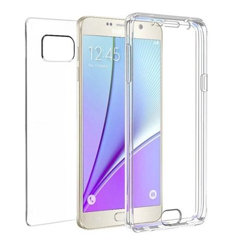 Microsonic Samsung Galaxy Note 5 Kılıf 6 Tarafı Tam Full Koruma 360 Clear Soft Şeffaf