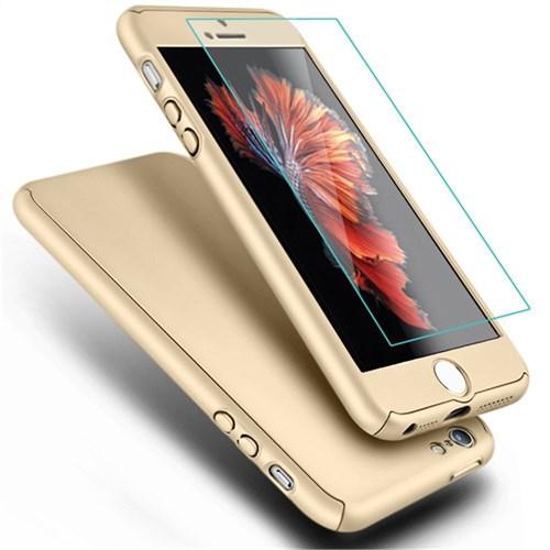 Microsonic İphone Se Kılıf Komple Full Gövde Koruma Cam Film Dahil Gold