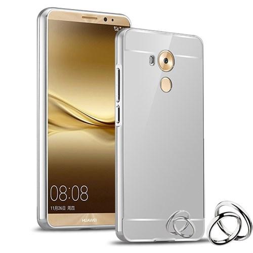 Microsonic Huawei Mate 8 Kılıf Luxury Mirror Rose Gümüş
