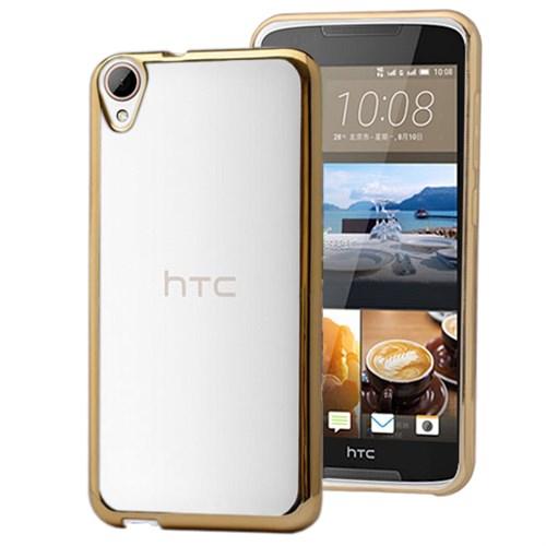 Microsonic Htc Desire 828 Kılıf Flexi Delux Gold