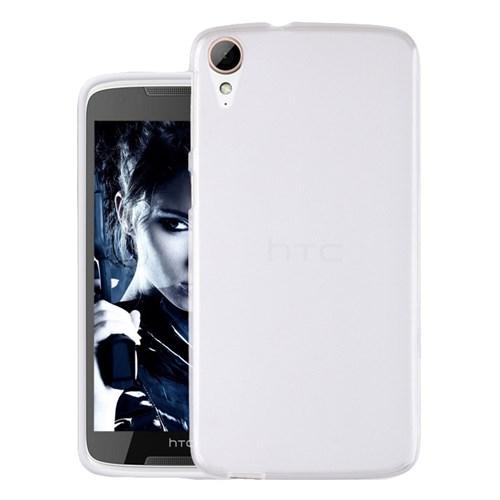 Microsonic Htc Desire 828 Kılıf Transparent Soft Beyaz