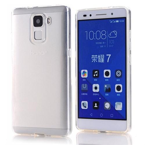 Microsonic Türk Telekom Honor 7 Kılıf Transparent Soft Beyaz