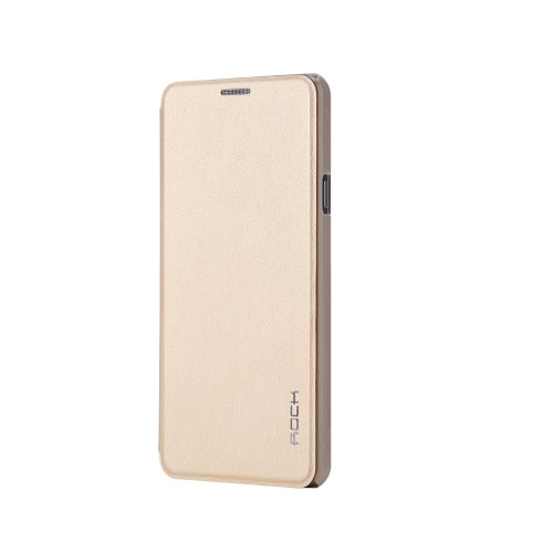 Rock Touch Samsung Galaxy A7 2016 Kılıf Side Leather Gold