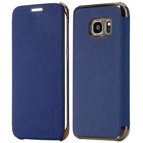 Rock Veena Samsung Galaxy S7 Kılıf Textured Slap-Up Business Mavi