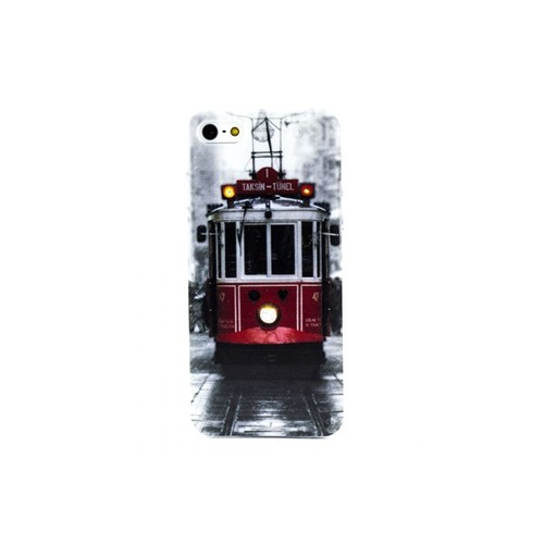 Teleplus İphone 5S Tramway Desenli Kılıf Kapak