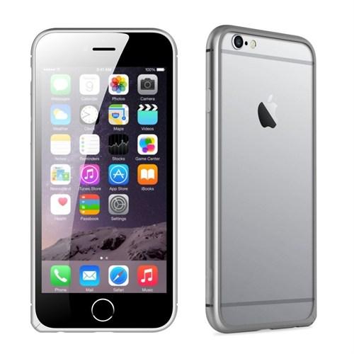 Teleplus İphone 6 Çerçeve Kenarlık Metal Kılıf Gümüş