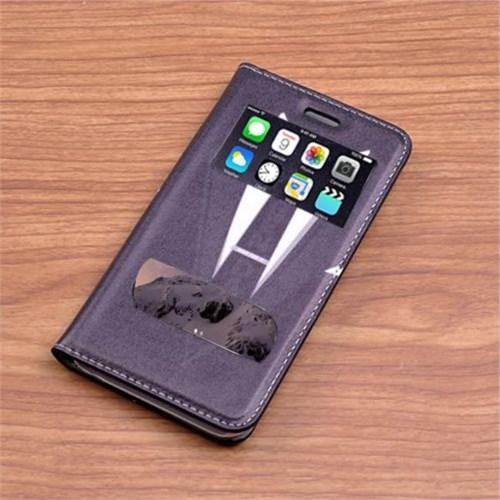 Teleplus İphone 6 Desenli Çift Pencereli Kılıf Gravat