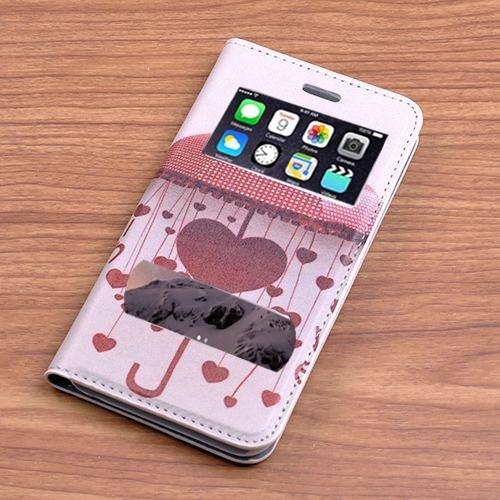 Teleplus İphone 6 Desenli Çift Pencereli Kılıf Yağmur