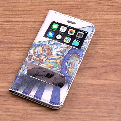 Teleplus İphone 6 Desenli Çift Pencereli Kılıf Araba