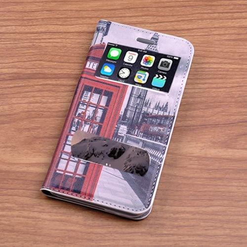 Teleplus İphone 6 Desenli Çift Pencereli Kılıf Telefon