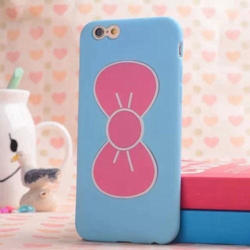 Teleplus İphone 5S Papyon Silikon Kılıf Mavi