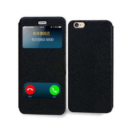 Teleplus İphone 6 Çift Pencereli Lüx Kılıf Siyah