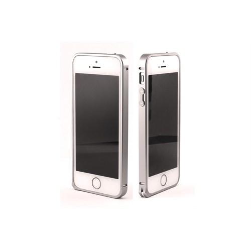 Teleplus İphone 5S Çerçeve Kenarlık Metal Gümüş Renk