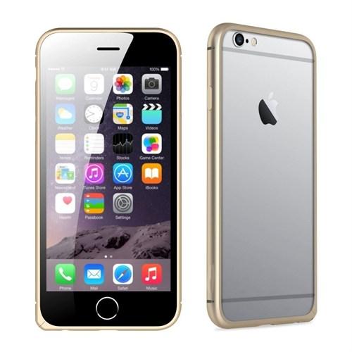 Teleplus İphone 6 Çerçeve Kenarlık Metal Kılıf Sarı