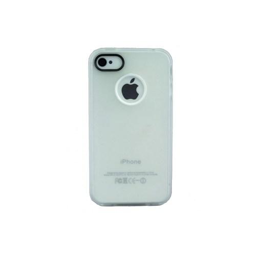 Teleplus İphone 4S Silikon Kılıf Kapak Beyaz