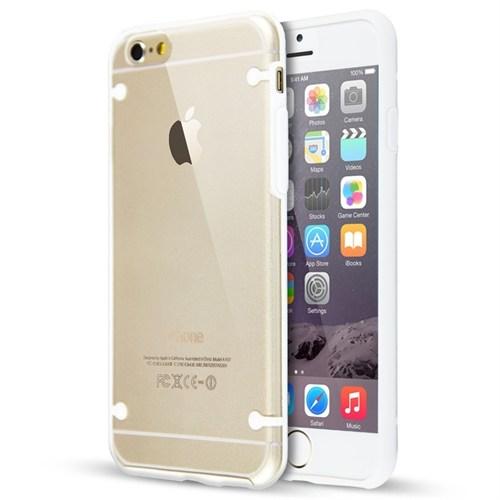 Teleplus İphone 6S Plus Bumper Yüksek Korumalı Kılıf Beyaz