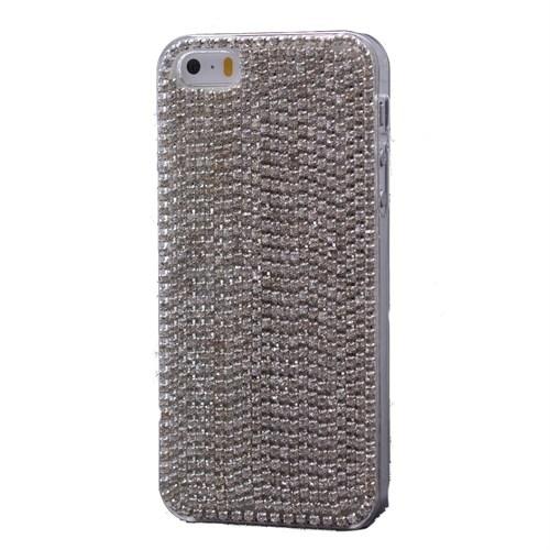 Teleplus İphone 6S Plus Çok Taşlı Kapak Kılıf Gümüş
