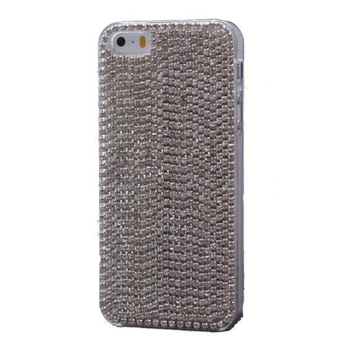 Teleplus İphone 6S Çok Taşlı Kapak Kılıf Gümüş
