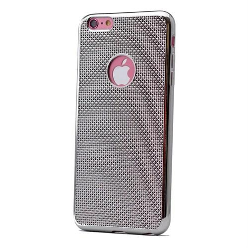 Teleplus İphone 6S Plastik Ve Silikon Karışımı Kılıf Gümüş