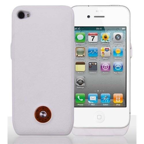 Teleplus İphone 4S Şarjlı Kılıf Beyaz
