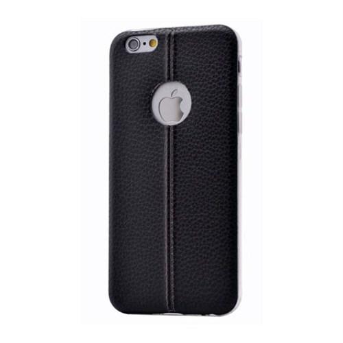 Teleplus İphone 6 Dikişli Silikon Kılıf Siyah