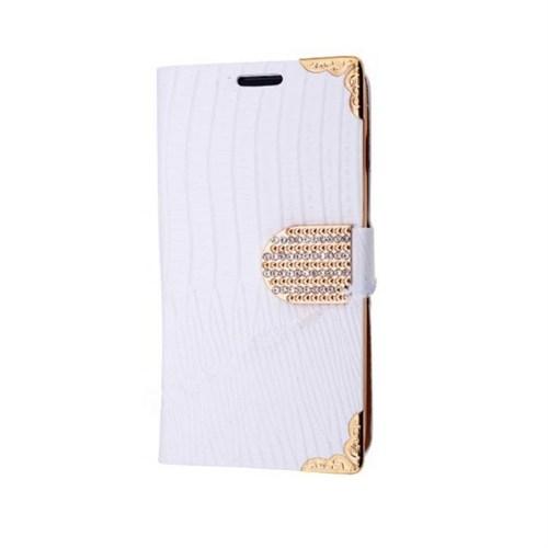 Teleplus İphone 6S Özel Taşlı Kılıf Beyaz