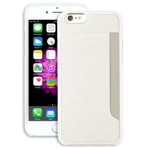 Teleplus İphone 6S Plus Cüzdanlı Deri Yeni Kılıf Beyaz