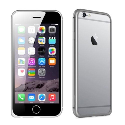 Teleplus İphone 6S Çerçeve Kenarlık Metal Kılıf Gümüş