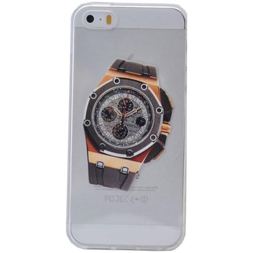 Teleplus İphone 6S Plus Saat Desenli Silikon Kılıf 4