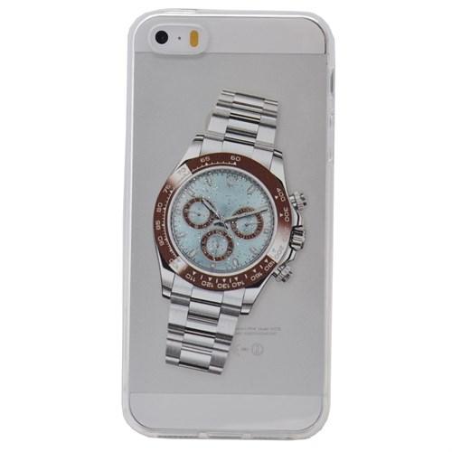 Teleplus İphone 6S Plus Saat Desenli Silikon Kılıf 6
